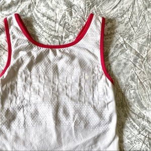 PRINCE Athletic Tank Top White Pink Medium